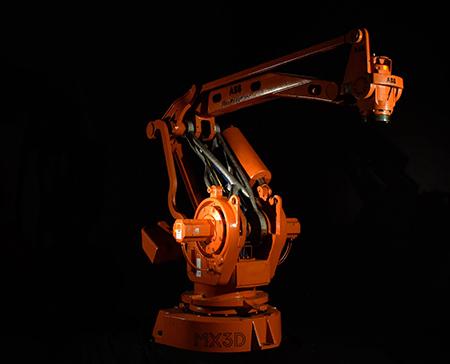 MX3D Robot Arm der Unternehmen MX3D, Altair und ABB. (Bildquelle: Cirp)