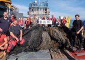 PreZero und der WWF haben bei der Bergung eines Geisternetzes vor der Insel Rügen ihre gemeinsame Partnerschaft um fünf Jahre bis 2025 verlängert. (Bildquelle: PreZero)