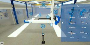 Der virtuelle Showroom der Sepro-Group soll bis Ende dieses Jahres online sein. Unter anderem lassen sich die Roboter des Unternehmens dreidimensional erforschen. (Bildquelle: Sepro)