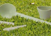 Die Produkte aus Papierspritzguss lassen sich auch im eigenen Garten kompostieren. (Bildquelle: Vogomedia)