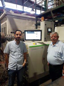 Fuad Dweik (rechts), Managing Partner von Palad, und Deputy Manager Rami Dweik sind mit dem neuen Extruder hochzufrieden.