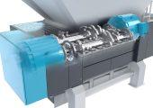 Der neue VRZ 2500 zerkleinert neben Haus-, Gewerbe- und Sperrmüll auch Wurzelballen und Bretter oder Balken inklusiv Nägeln. (Bildquelle: Vecoplan)