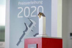 Siegerpokal für den Werkzeugbau des Jahres 2020. (Bild: Fraunhofer IPT)