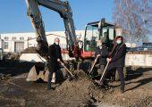 Am 8. Dezember fand der Spatenstich für eine fast 700 Quadratmeter große Produktionshalle statt.(Bildquelle: Amt für Wirtschaftsförderung Dresden (Bernhard Albrecht), Herone, Family Value)