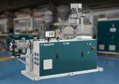 Die Rohrextruder ermöglichen aufgrund ihrer Schneckengeometrie eine hohe Maschinenleistung in kg/h und Polyolefine werden ohne übermäßige mechanische Beanspruchung verarbeitet. (Bildquelle: Bausano)