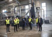 Einweihung des neuen Doppelschnecken-Extruders bei PreZero Polymers in Haimburg, Österreich, durch den Kärntner Landeshauptmann Dr. Peter Kaiser. (Bild: LPD Kärnten/Just)
