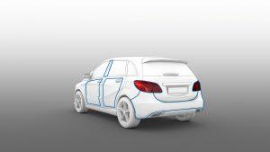 Auch große Kunststoff-Bauteile beispielsweise im oder am Auto lassen sich mit Lasertechnologie schweißen. (Bild: LPKF)