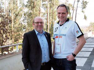 VDWF-Präsident Prof. Thomas Seul (links) und  VDWF-Geschäftsführer Ralf Dürrwächter. (Bild: Susanne Schröder)