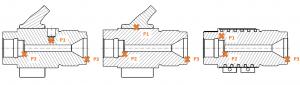 Messpunkte (Schnitt, jedes Heizband mit dargestellt) (Bild: Inmex)