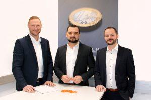 Drei erfahrene Verkäufer leiten die neuen Business Units bei Elmet: Stefan Musner, Michael Schaffer und Lukas Linimayr. (Bild: Elmet)