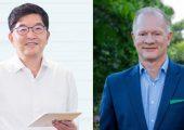 Na Kyung-soo, CEO SK Global Chemical (links) und Bob Powell, CEO Brightmark nach der Unterzeichnung der Kooperationsvereinbarung. (Bild: SK)