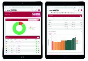Browserbasierte Benutzeroberfläche für übersichtliche Visualisierung der Prozessdaten auf PC und mobilen Endgeräten.