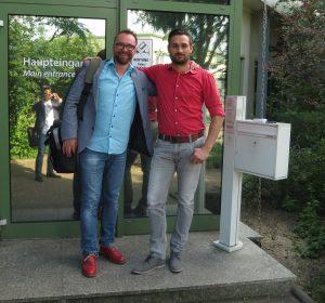 Rafael Kubisz (li.) ist Gründer und Geschäftsführer der Zeppy Gesellschaft, Prinzersdorf, Österreich, und Jürgen Reichl (re.) ist Geschäftsführer der Zeppy Gesellschaft, Prinzersdorf, Österreich und Handelsagent von Overath EPP, Oebisfelde, Deutschland.  Sie haben Zeppy erfunden und das Start-up gegründet. Bild: Zeppy