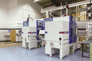 SmartPower 60 und SmartPower 90, als Insider-Zellen ausgeführt. (Bild: Wittmann Battenfeld)