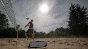 Auch für den Outdoor-Sport ist der Soundbuddy robist genug. Bild: Zeppy