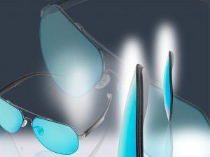 Eingefärbte Brillengläser aus amorphem, biobasiertem Polyamid. (Bild: Ems-Grivory)
