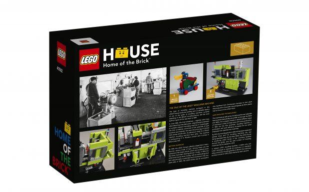 Das exklusve Modell einer Engel Spritzgießmaschine von Lego ist im Lego House erhätlich. Bild: Lego House