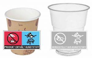 Einweg-Getränkebecher unterliegen neuen Kennzeichnungvorschriften. (Bild: IK)