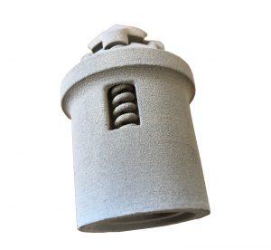 Versuchsbauteil mit innerer Mechanik, gefertigt von Rauch mit einem CO<sub>2</sub>-Laser und PPSGF. (Bild: Rauch)