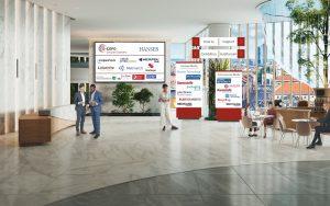 Raum für Interaktion zwischen Besuchern und Ausstellern: Die Lobby der D-EXPO Circular Economy vom Carl Hanser Verlag. (Bild: Hanser)