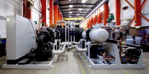 Zentrale Tiefkälteanlage: Die leistungsstarke Kälteanlage verfügt über eine Kälteleistung von 2250 kW für Mediumtemperaturen bis -10°C. (Bild GWK)
