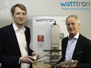 Marcus Stein (l.) und Ton Knipscheer freuen sich auf die Zusammenarbeit. (Bild: Watttron)