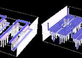 Kühlkanalauslegung bei der konventionellen (l.) und der konturfolgenden Temperierung (r.). (Bild: Contura MTC)