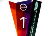 """Die Innovationspreise """"Renewable Material of the Year 2021"""" wurden an die Gewinner übergeben. (Bild: Covestro)"""