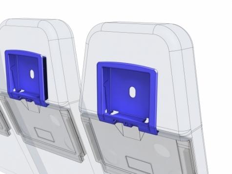 Nicht sicherheitsrelevant in einem Flugzeug, sollte aber trotzdem nicht so schnell kaputt gehen: Display-Einfassung in der Sitz-Rücklehne. Bilder: Proto Labs