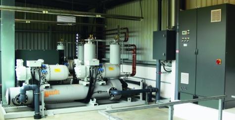 Energieoptimierte Kältemaschine im Kühlraum
