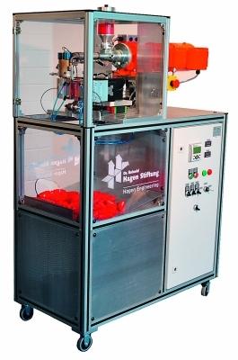 Die kleinste Blasform-Maschine der Welt. Bild: Hagen Engineering