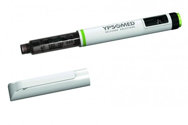Für ein funktionswichtiges Bauteil ihres Einweg-Injektoren Noppen verwendet der Hersteller ein neues, reibungsarmes Polyacetal. Bild: Ypsomed