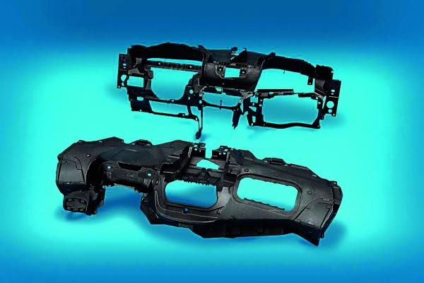 Im Thermoplast-Schaum-Spritzgießverfahren hergestellter  Instrumententafel-Träger (Bildquelle: SPE)