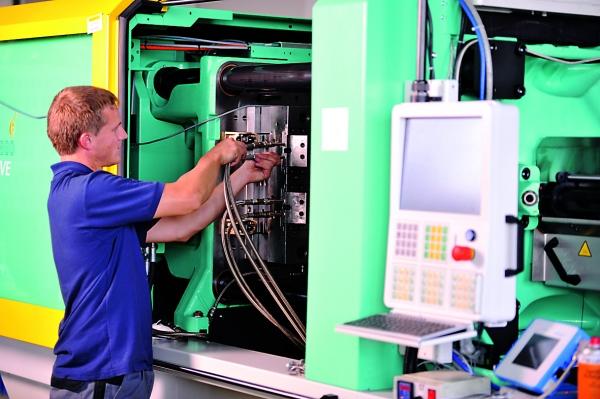 Die Werkzeuginnendruck-Technik beschleunigt das Rüsten (Bildquelle: Kistler)