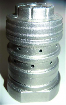 Der additiv gefertigte Werkzeugkern  reduziert die Zykluszeit. (Bildquelle: LBC)