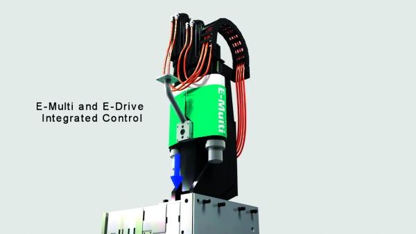 Mehrkomponenten-Sprizgießlösungen lassen sich auch nachrüsten. Zentral dabei ist die Einspritzeinheit.  (Bildquelle: Moldmasters)