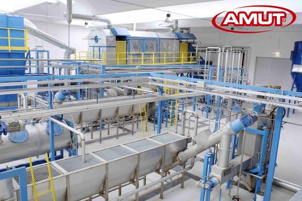 Friction Washers im Bottle-to-Bottle-Prozess für pcrPET-Flaschen (Bildquelle: Amut)