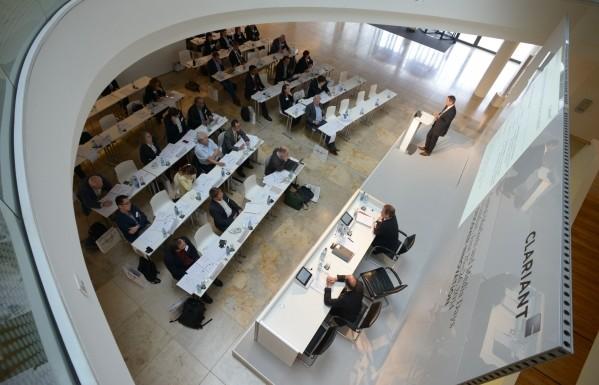 Im Innovation Center von Clariant in Frankfurt-Höchst präsentierte das Unternehmen seine Strategie und Forschungskompetenz. (Bildquelle: Clariant)