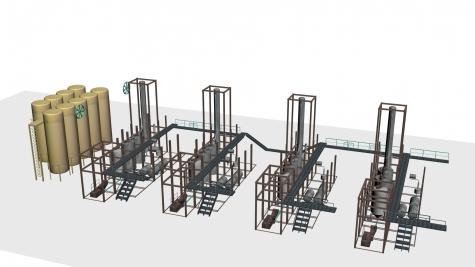 So ist die Syntrol-Anlage in Mannheim geplant: Je nach dem Fondsvolumen sollen ein bis vier Prozessanlagen gebaut werden (Bild: Ventafonds)