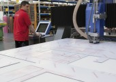 Präzise gefräste Kunststoffplatten
