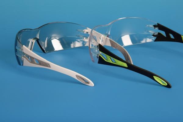 Schutzbrille pheos mit TPE-Bügeln (Bildquelle: Kraiburg TPE)