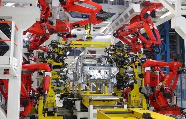 Die Roboter verwenden zur Synchronisation aller Achsen Powerlink.  (Bildquelle: Powerlink)