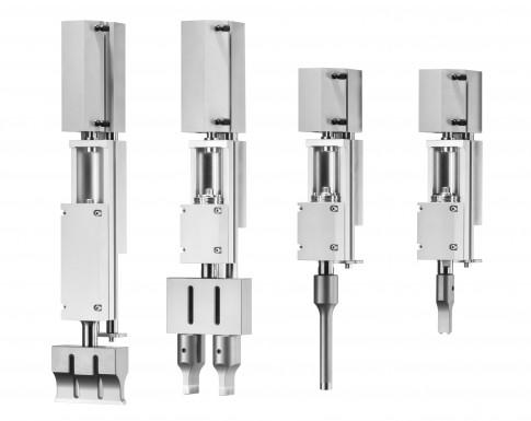 Ultraschall-Vorschubeinheit VE Compactline zum Einsatz auf Roboterarmen oder in Automationslinien.  (Bildquelle: Herrmann Ultraschalltechnik GmbH & Co. KG)